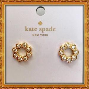 Kate Spade Gold/glass stud earrings NWT